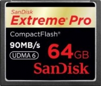 Sandisk Compact Flash Extreme Pro 64GB  (90MB/s lettura-scrittura)
