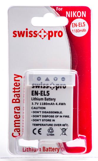 SWISS-PRO BATTERIA EN-EL5 1180 mAh