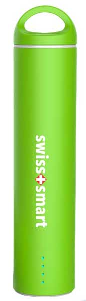 SWISS PRO POWER BANK 2600 MAH verde