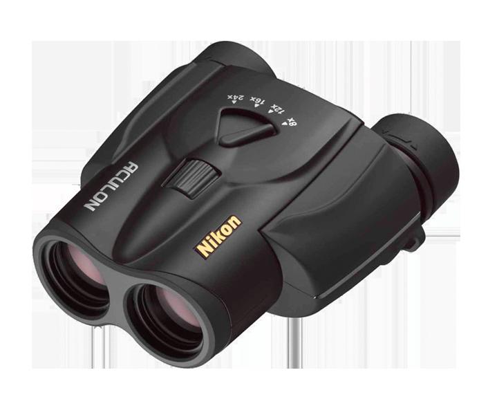 Binocolo Nikon aculon 8-20x25 Black