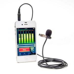 AZDEN EX-503i Microfono omni-direzionale a cavo con clip da bavero. Jack TRRS da 3,5mm compatibile con smartphones e tablet