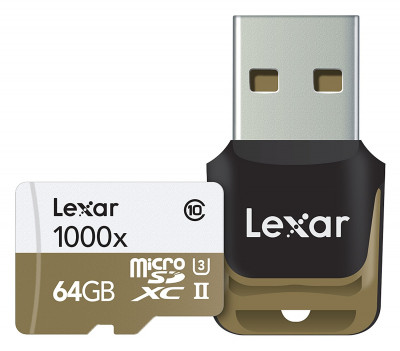 64 GB microSDXC UHS-II 1000x w/Reader