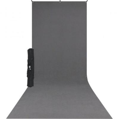 X-Drop backdrop kit - fondale in tessuto NEUTRAL GRAY 1,50 x 3,60m completo di supporto